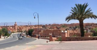 The streets of Ouarzazate