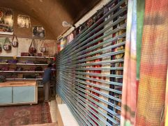 Traditional weaving in yazd Iran