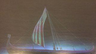 Viking Ship Projection